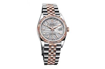 Ladies New Rolex Datejust Series 316 Stainless Steel Strap Palm Leaf Pattern Dial Multicolor Optional Watch Fake
