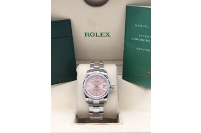 Rolex Datejust Classic Stick Hour Markers Silver Stainless Steel Strap Color Dial Women'S Watch