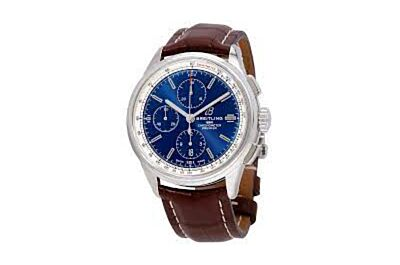 Breitling Premier Mechanical Watch A13315351C1P1 Blue Dial White Tachymeter Minutes And Hour Counters Seconds Subdial Watch