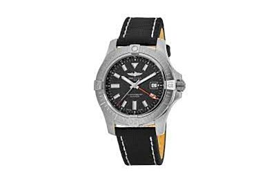 Breitling Avenger Automatic GMT 43 Stainless Steel Case Black Dial Four-Hand Date Window Watch Replica