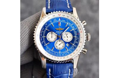 Breitling Navitimer Blue Dial White Inner Bezel Concave Design Bezel Date Window Minute&Hour Counters seconds Subdial Watch