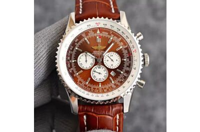 Breitling Navitimer Brown Dial White Inner Bezel Concave Design Bezel Date Window Minute&Hour Counters Seconds Subdial Watch