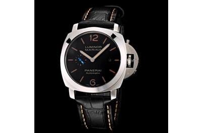 Hot Selling Panerai Luminor Marina Stainless Steel Case Brown Hour Mark Date Small Seconds Watch