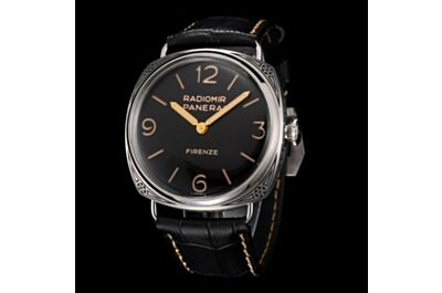 Panerai Radiomir Black Printed Case Black Dial Gold Sword-Shaped Hands Date Small Seconds Watch Fake