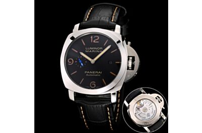 Panerai Luminor Marina Classic Black Dial Stainless Steel Case Date Small Seconds Watch