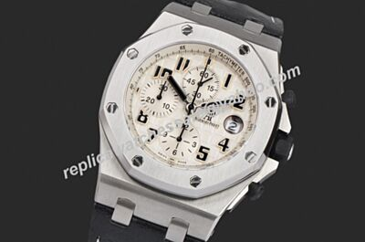 Fake Audemars Piguet Chronograph Offshore Ref 25940SK.OO.D002CA.02 Swiss 42MM Black Hands Silver SS Watch AP005