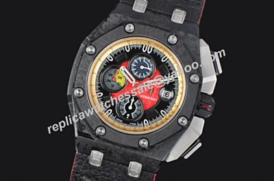 Audemars Piguet Offshore Limited Carbon Black Grand Prix Gents Chronograph Colorful Watch AP024