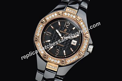 AP Offshore Lady Offshore Ceramic Diamonds Smnall Size Women 's Luxurioux Black Bracelet Watch