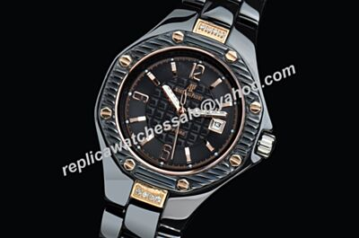 AP Offshore Ladies Ceramic Wristband All Black Feminine 34mm Jewelry Watch