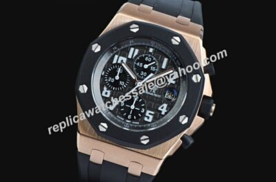 Audemars Piguet Ref 25940OK.OO.D002CA.02 Swiss Rose Gold  Royal Oak Offshore Luminous Gents Rubber Strap Chrono Watch AP038