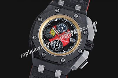 Audemars Piguet Chronograph Limited Edition Offshore Carbon Black Ref 26290IO.OO.A001VE.01 Rep Swiss Watch AP050