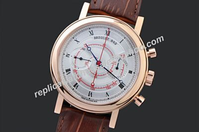 Swiss Faux Breguet Classique 5247BB/12/9V6 Mens Manual Wind Chronograph Classique Complications Watch BJ0002