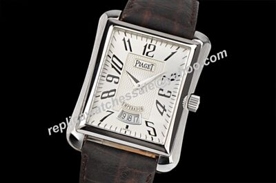 Cheap Pep Piaget Emperador Ref P10108 Quartz 18k White Gold Day Date Watch BJ003