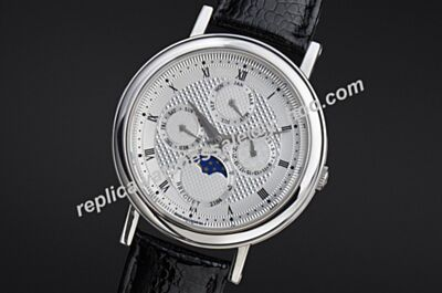 Breguet 2184 Classique Perpetual Calendar Moonphase Day-Date  Silver SS Watch