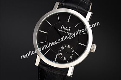 Cheap Piaget Altiplano White Gold Bezel Auto Men 40mm Black Watch