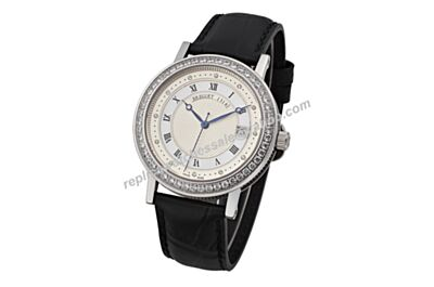 Breguet Marine Daimond Royala White Gold Auto Gents 40mm Date Watch BG055