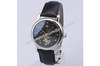 Breguet Mens Moonphase Balack Auto Prpetual Calendar Classique Complications  Tourbillon Watch