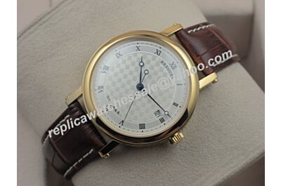 Mens Swiss Breguet Classique Ref 5157BB/11/9V6 18k Rose Gold Date Watch BG075