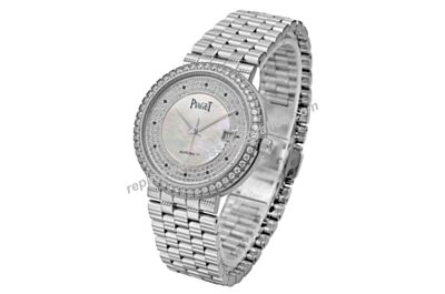 Lady Swiss Piaget Dancer&Traditional G0A05421 Diamonds Date Watch Copy