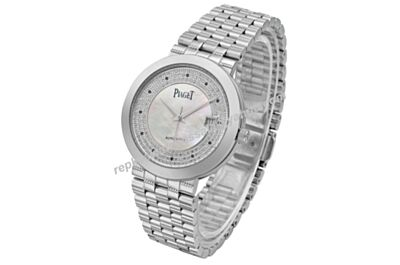 Swiss Piaget G0A34053 Dancer&Traditional Lady 18k White Gold 28mm Diamond Watch