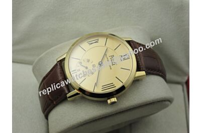Piaget Swiss Made Altiplano G0A38139 Men 40mm Yellow Gold Bezel Auto Watch BJ122