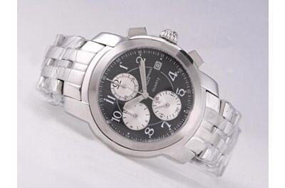 Swiss Baume&Mercier Clifton MOA10212 White Gold Bracelet 43mm Chrono Watch BM004