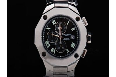 Replica Baume&Mercier Riveria Chronograph MOA08728 Gents Black 40mm Silver Watch