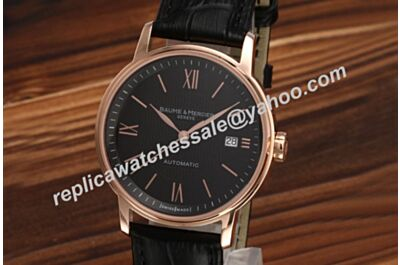 Men Baume&Mercier Classima Executives Auto Ref MOAO8590 Rose Gold Swiss Watch BM016