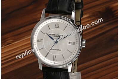 Baume&Mercier Classima Auto Men's Date White Gold 39mm Watch Swiss Rep BM017
