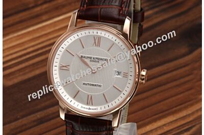 Baume&Mercier Classima Automatic MOA10037 Men's 39mm Brown Leather Watch Rep BM019