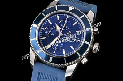 Fake Swiss Breitling Superocean Heritage Chronographe 46  A1332016|C758|205S|A20D.2 Special Edition Blue Rubber Strap Watch