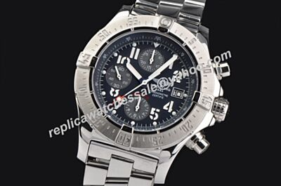 Breitling Swiss White Gold Avenger II Luminous Gents 49MM Chrono Men's Watch
