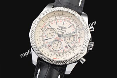 Breitling Swiss Bentley 6.75 Motors T Special Edition Chronograph Mens Silver 48mm Watch