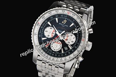Breitling Ref A41370 Swiss White Gold Montbrillant 01 Limited Gents 49MM Chrono Watch