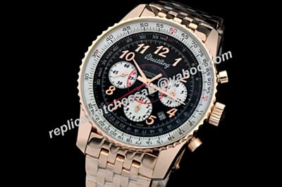 Breitling Chronograph Montbrillant 01 Gold Limited 2-Tone Swiss Tachymeter Bezel Men's Watch BNL084