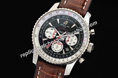 Breitling H41370 Blacksteel Limited 2-Tone Face Montbrillant 01 Chronogaraph Mens Swiss Watch BNL086