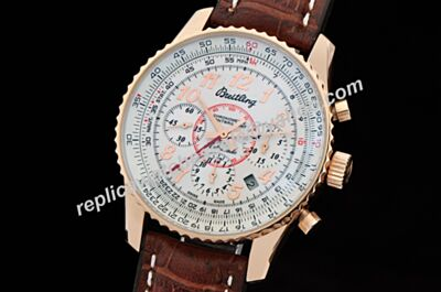 Breitling Montbrillant 01 A41370 Swiss Ltd. Edition Brown Leather Rubber Strap 40mm Watch BNL090