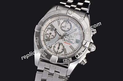 Breitling Chronomat A13356-045 Swiss Auto Imitation Luminous Silver Watch BNL100