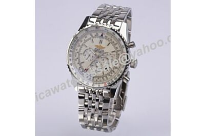 Low Price Breitling Navitimer A242G71NP Football 01 White Gold Day Date Watch