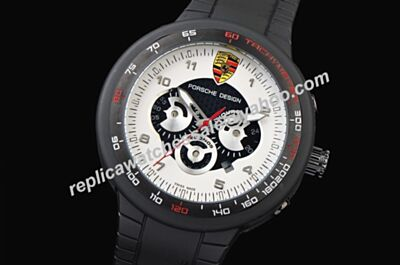 Porsche Design P'6340 Flat Six Chronograph 2-Tone Black Bezel Watch