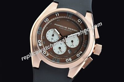 Porsche Design Dashboard Chrono 18K RG 6620.69.40.1243 Chronograph Brown   Luminous Watch