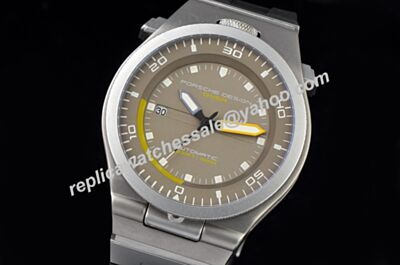 Replica Porsche Design P'6780 Diver Titanium 46mm Grey Steel Luminous Markers Watch