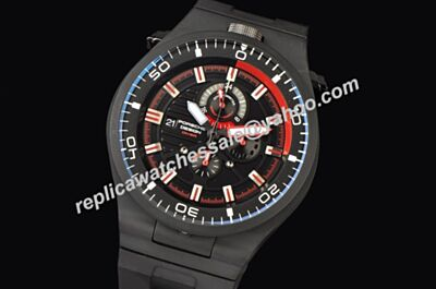 Replica Porsche Design P'6780 Diver Chronograph Watch BSJ017,All Black Design ,White Scale