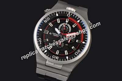 Men's Porsche Design P'6780 Diver  Black Face Rubber Strap Date Watch