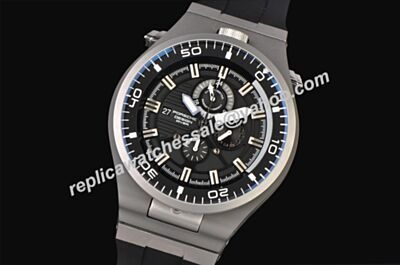 Mens Porsche Design P'6780 Diver All Black Luminous 46mm Quartz Date Watch