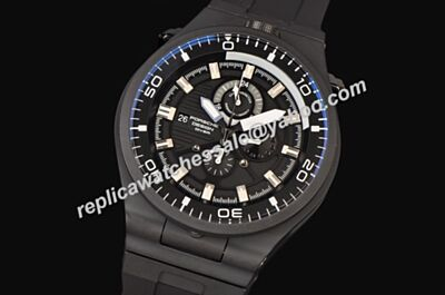 Porsche Design P'6780 Diver Luminous Markers Mens 6780.45.43.1218 PVD Black 24 Hours Date Watch