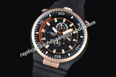 Porsche Design P'6780 Diver Rose Gold Bezel Automatic 46mm Date Watch