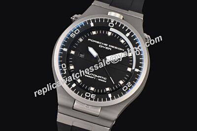 Porsche Design P'6780 Diver  White Gold Date 46MM Luminous Replica Watch