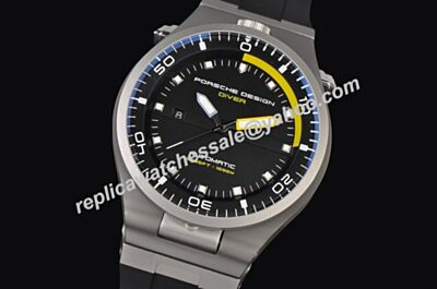 Porsche Design P'6780 Diver Luminous Scale   6780.4453.1218 Rubber Strap Watch