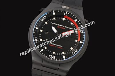 Porsche Design P'6780 Diver Titanium All Black Luminous Markers Fake Watch